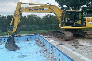 The demolition of Veterans Memorial Pool on Walnut Grove Road in Middletown began Sept. 8, a project expected to cost $2 million. The site will be transformed into a facility with state-of-the-art technology that is ADA-accessible, with a new bathhouse, pavilion, splash pad and more.