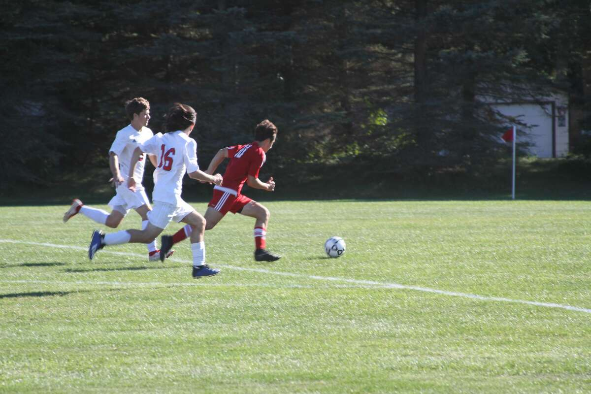 Benzie Central soccer defeated Suttons Bay on Wednesday afternoon.