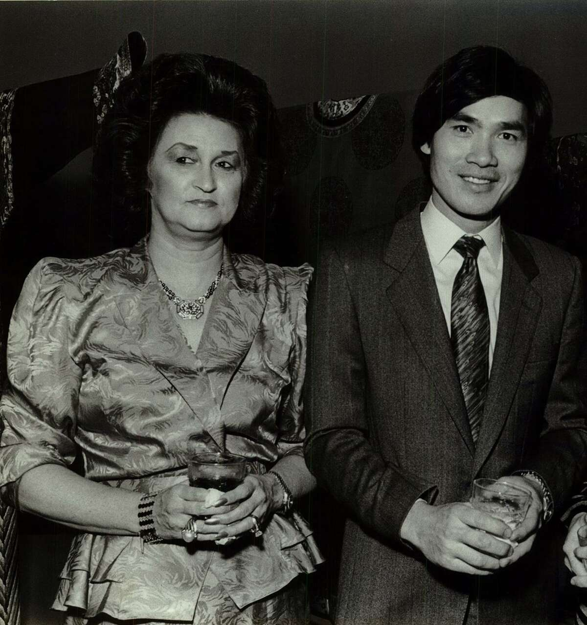 """Constance """"Connie"""" Andrews, left, and Kenneth Lau, seen here in 1988, have been partners in business and life for decades. Now, Andrews now suing Lau."""