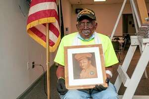 """Eugene """"Geno"""" Williams, will turn 100 on Sunday but will celebrate on Saturday with a gathering from 4 to 8 p.m. at Jacksonville AmVets Post 100 at 210 E. Court St."""