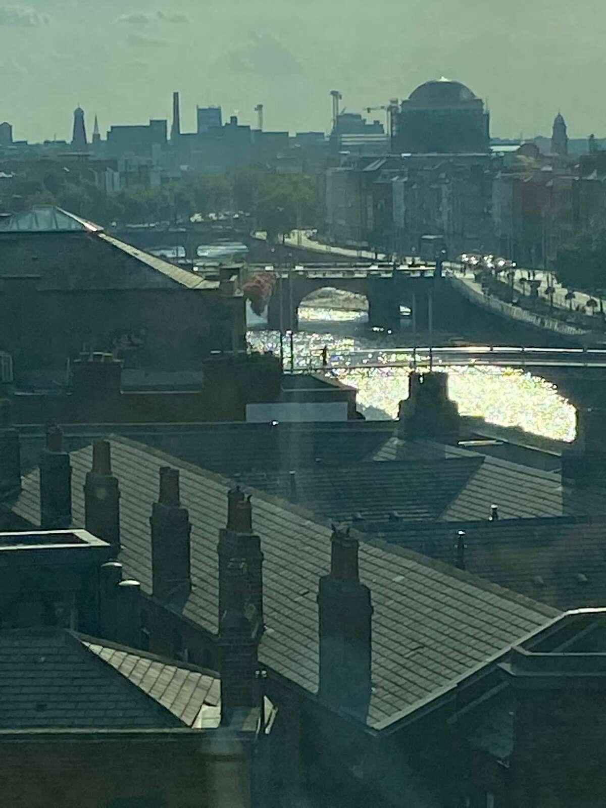 A view of Dublin at dawn.