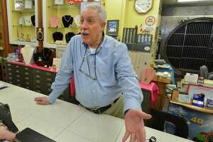 Larry Pellegrini, Owner at Pelliegrini Jewelers on Washington St. talks about bridge options and about the Connecticut Department of Transportation survey aimed aimed at getting input from Norwalk businesses to be impacted by the Walk Bridge replacement on Thursday April 12, 2018 in Norwalk Conn.