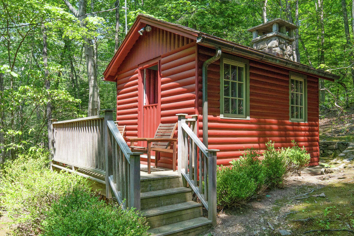 The writer's cabin on 1021 Rock Rimmon Road in Stamford, Conn.