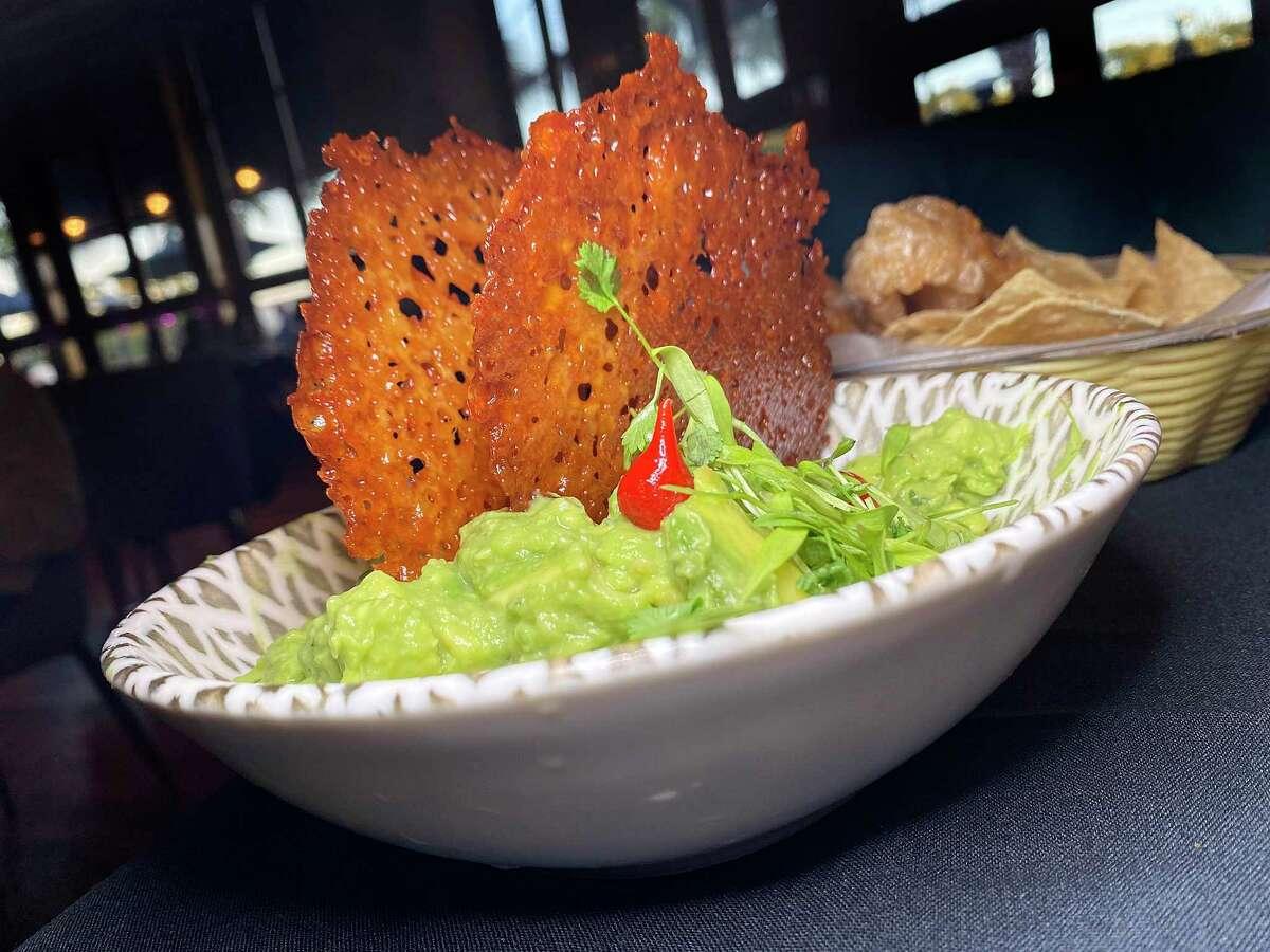 Guacamole includes crispy cheese at Frida Mexican Restaurant & Bar in Stone Oak.