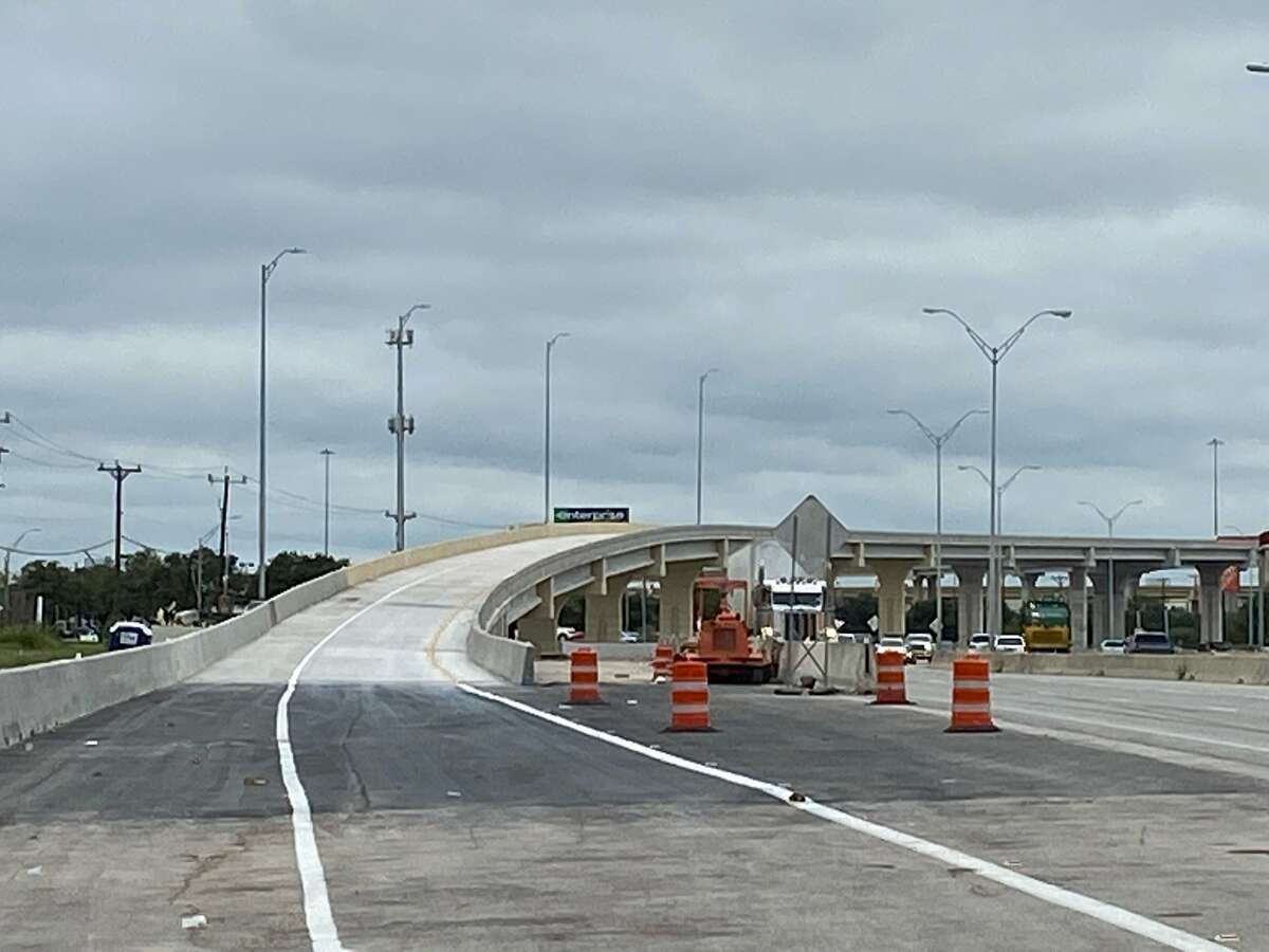 The new flyover ramp will provide a direct connection for drivers traveling eastbound on Texas 151 to connect to southbound Loop 410, the Texas Department of Transportation said.