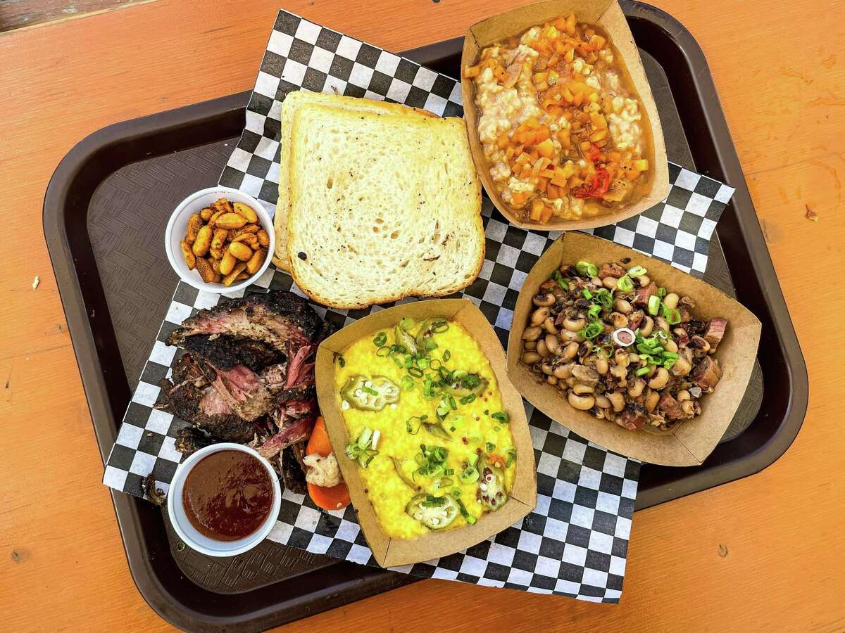Pulled pork and sides atDistant Relatives in Austin
