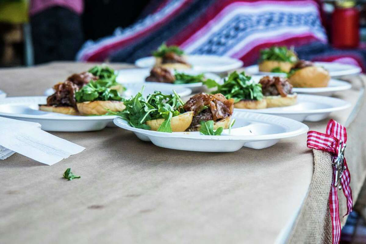 Sliders served at the first Burger Showdown