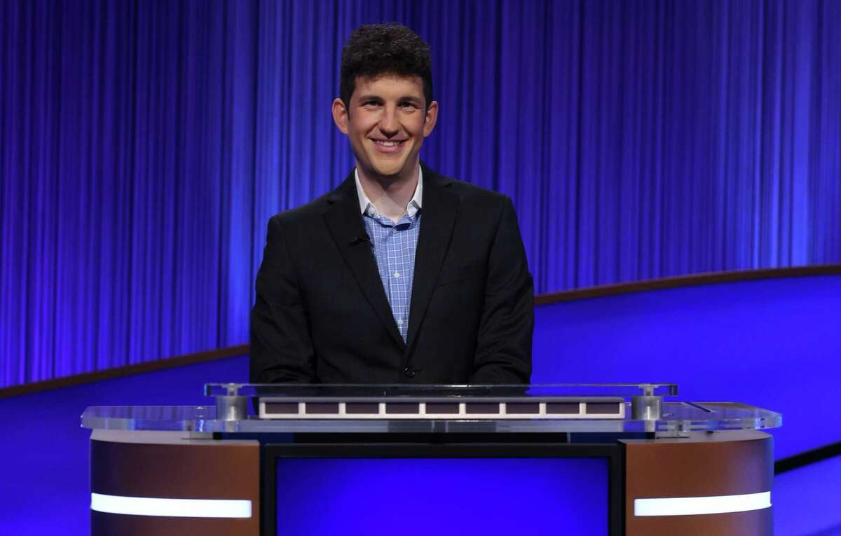 """Matt Amodio, a PhD student from Yale University, competes on """"Jeopardy"""""""