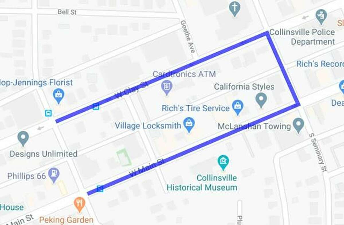 The parade route for Saturday at 4 p.m.