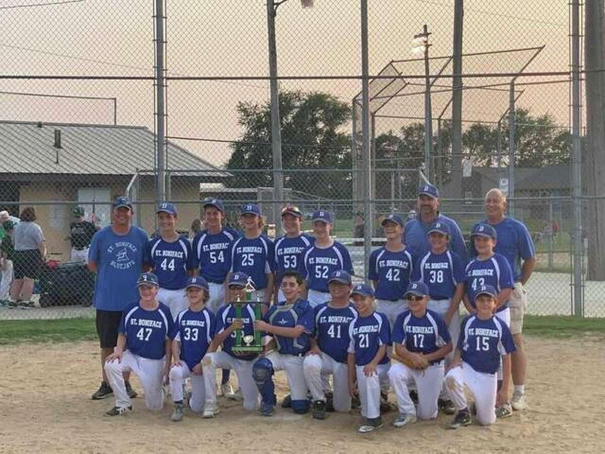 The St. Boniface Bluejays baseball team recently won the Trinity Lutheran Baseball Tournament.