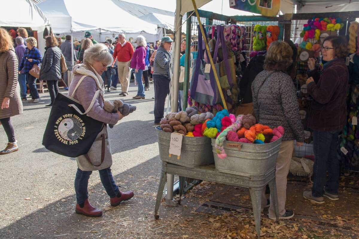 The NY State Sheep & Wool Festival is the biggest fiber event in the country, typically drawing 30,00 knitting enthusiasts and wool farmers. This year it is lowering its capacity to 20,000 over the weekend, as part of its COVID precautions.