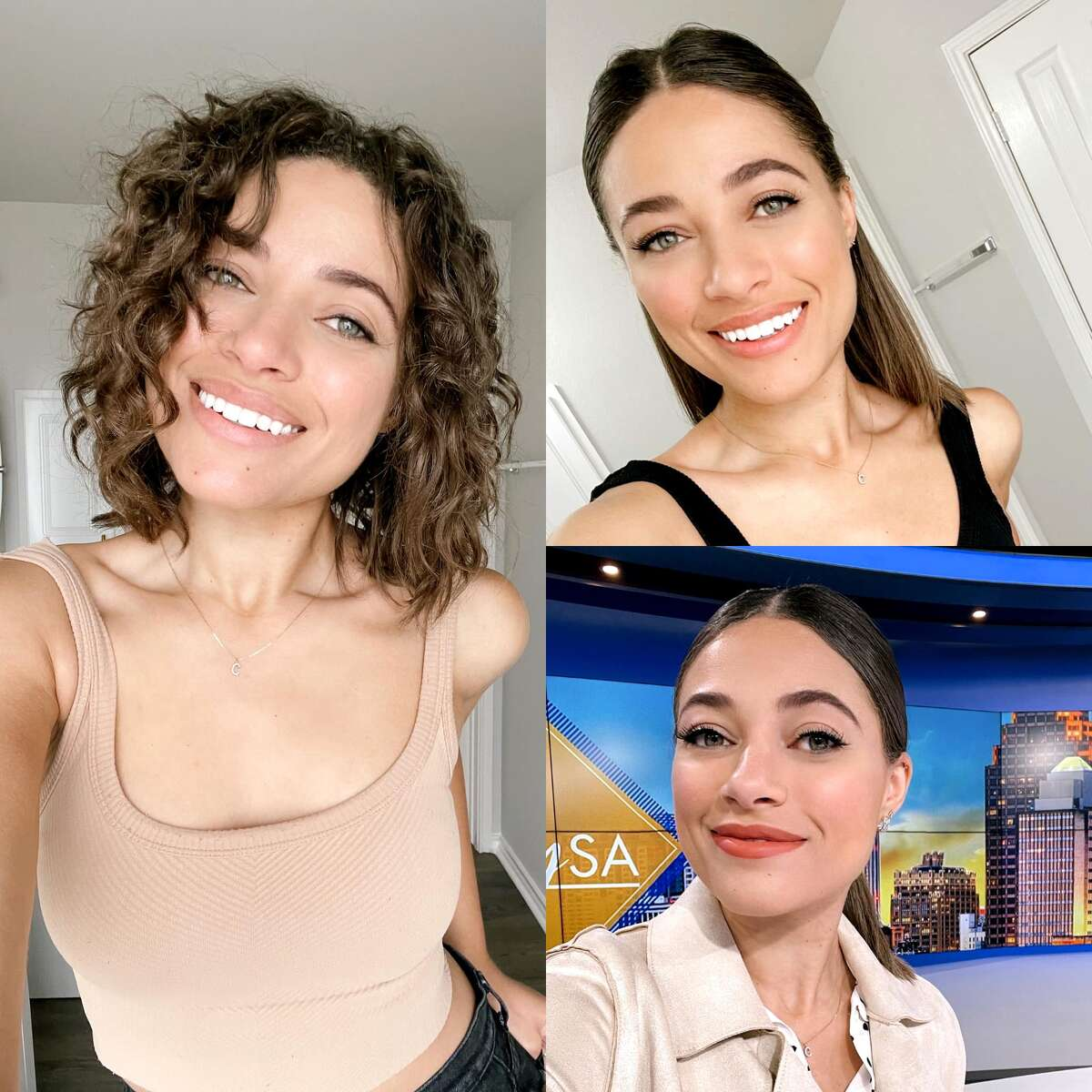 Clarke Finney shares photo of her different hair styles.