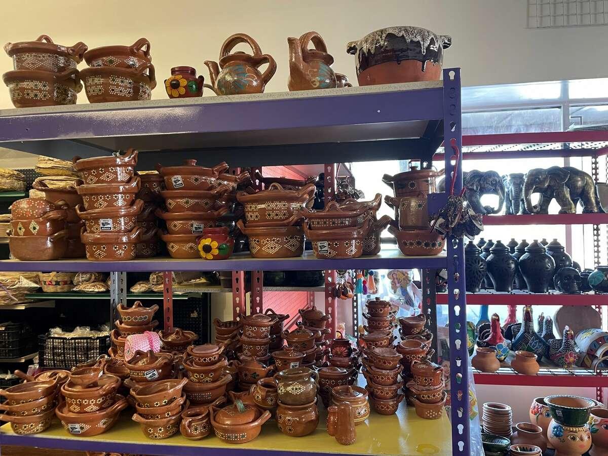 Store shelves inside La Típica Oaxaqueña's new location in White Center, Wash.