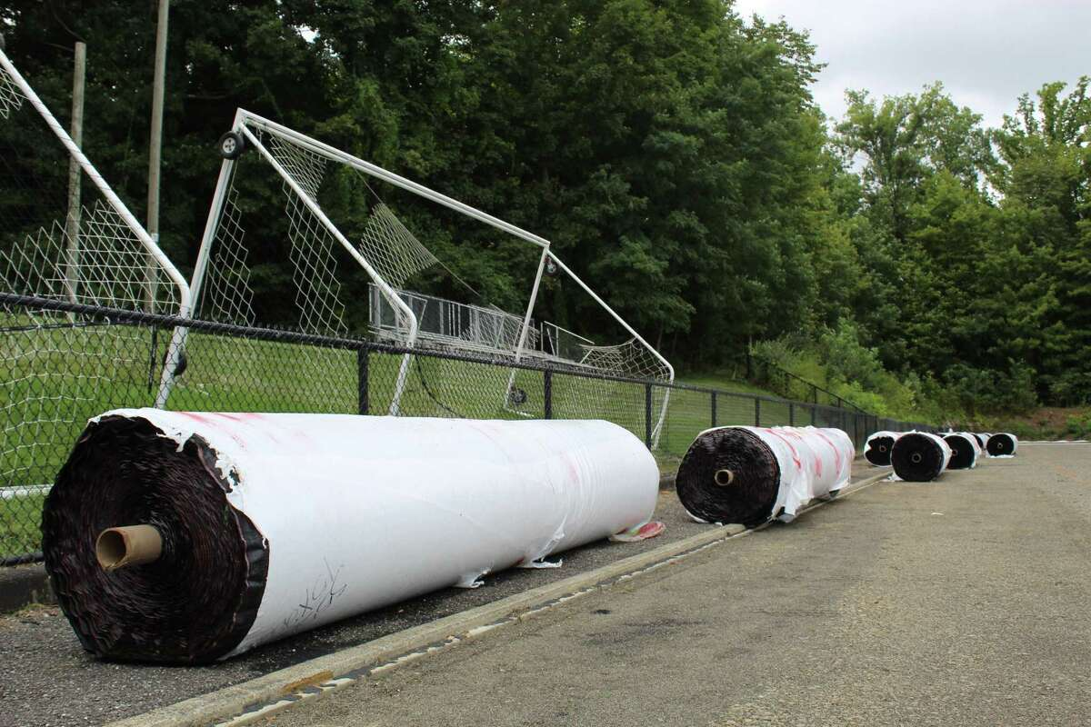 The turf for Scotts Ridge Middle Scool's field arrived Wednesday, and installation is expected to begin immediately. Athletics Director Dane Street anticipates that teams can start using it by Sept. 28.