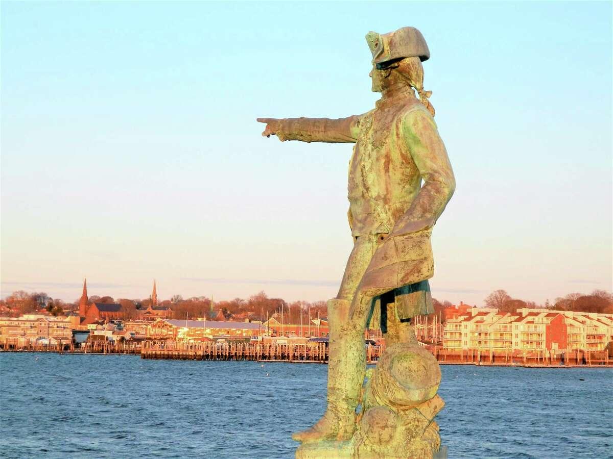 Statue of Comte de Rochambeau at Newport, RI.