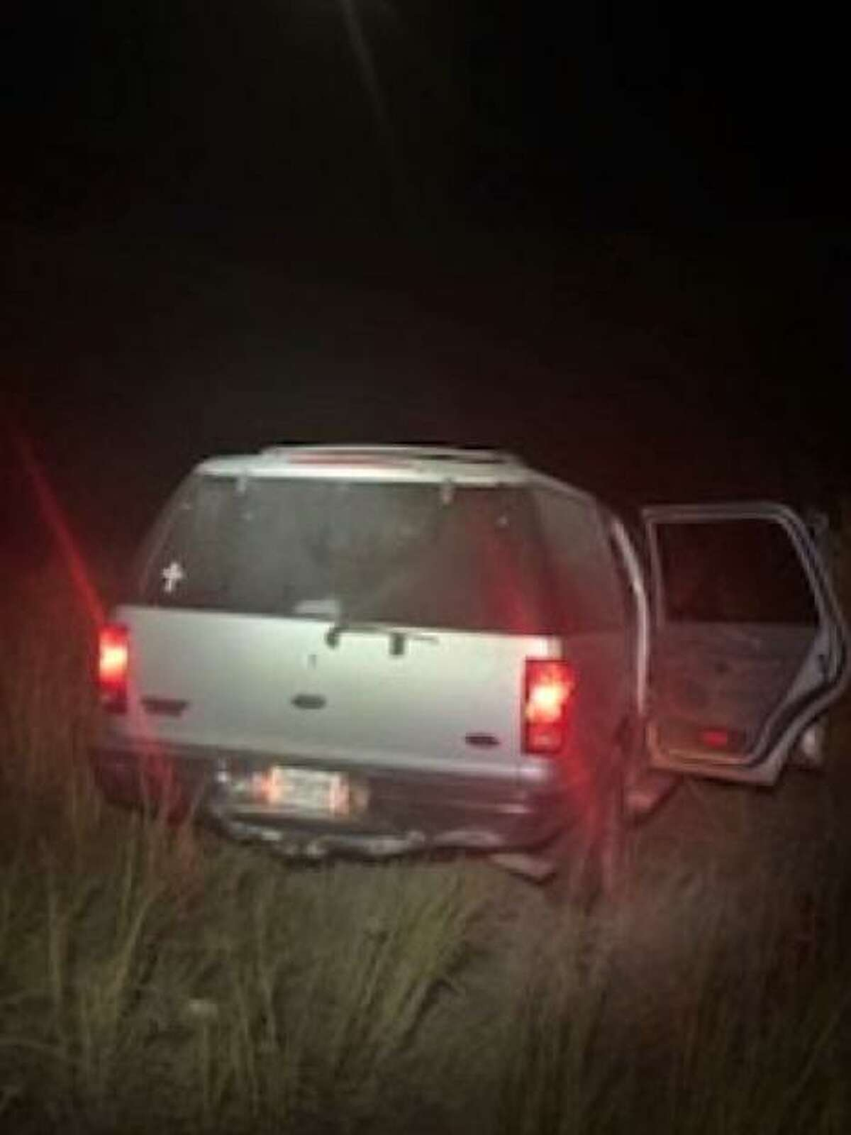 The driver of this vehicle attempted to circumvent the U.S. Border Patrol checkpoint on Texas 359. Nine migrants were apprehended after the driver went through a ranch fence.