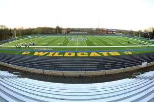 Seymour High School's new artificial turf football field in Seymour, Conn. on Tuesday Nov. 17, 2015.