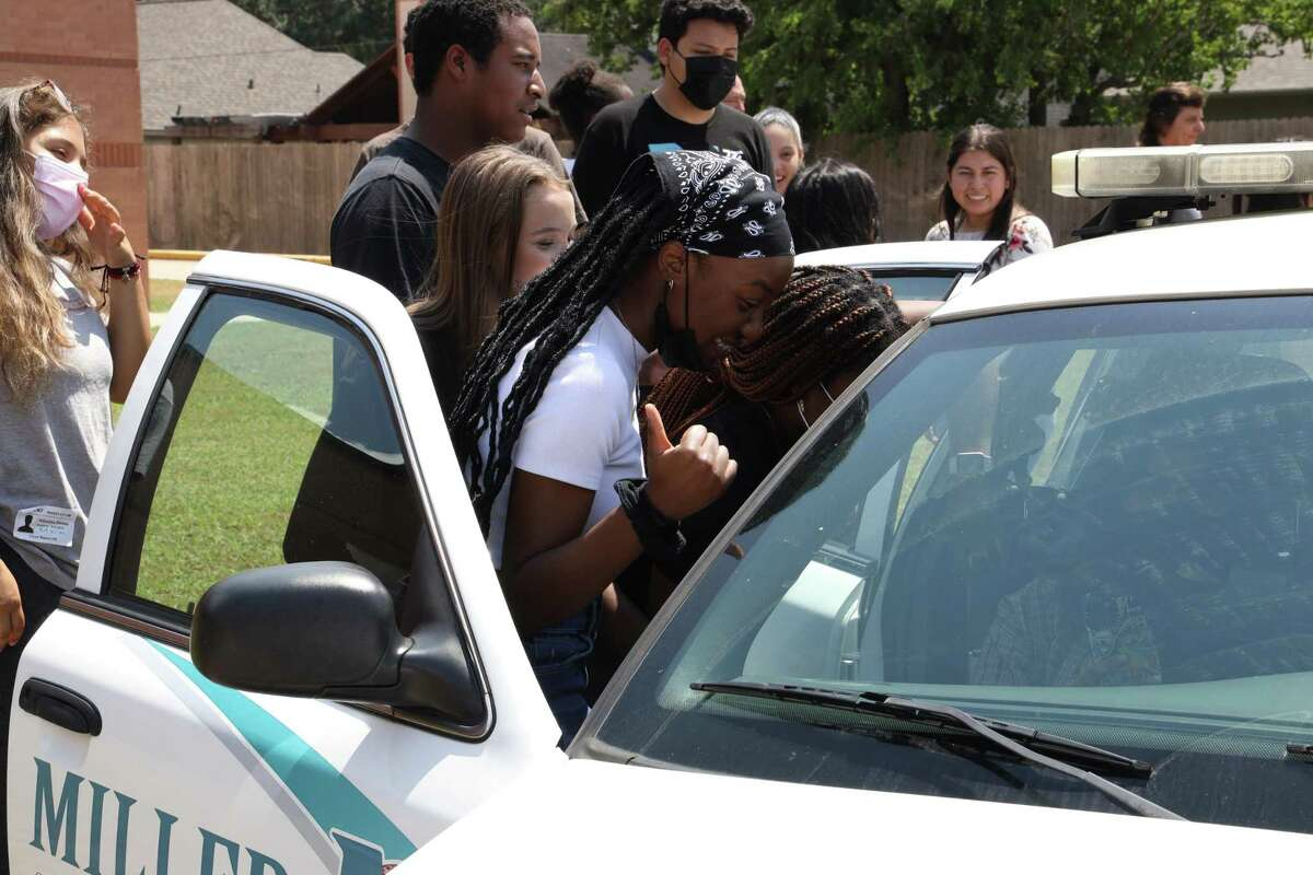 Students at Katy ISD's Miller Career & Technology Center will reap the benefits of a Katy ISD Police Department donation of a pair of vehicles.