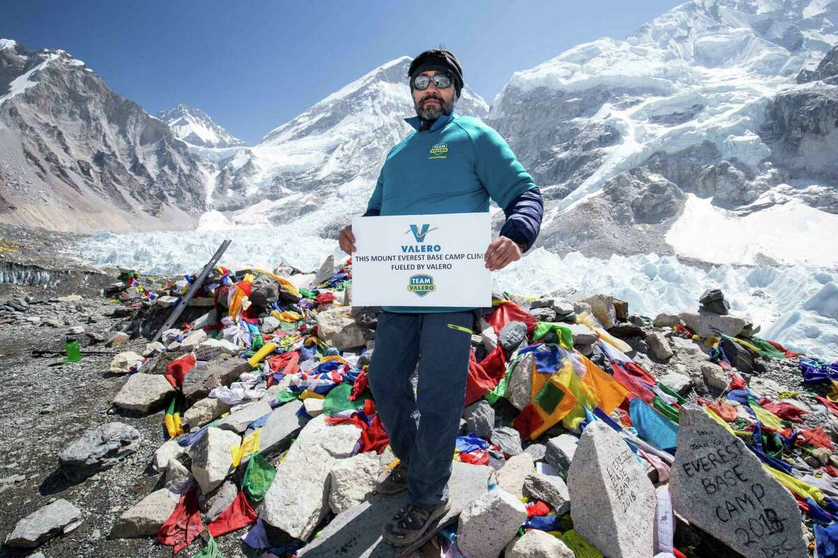 In 2018 Sachi Arya climbed from the Mount Everest base camp, where the elevation is 17,598 feet.
