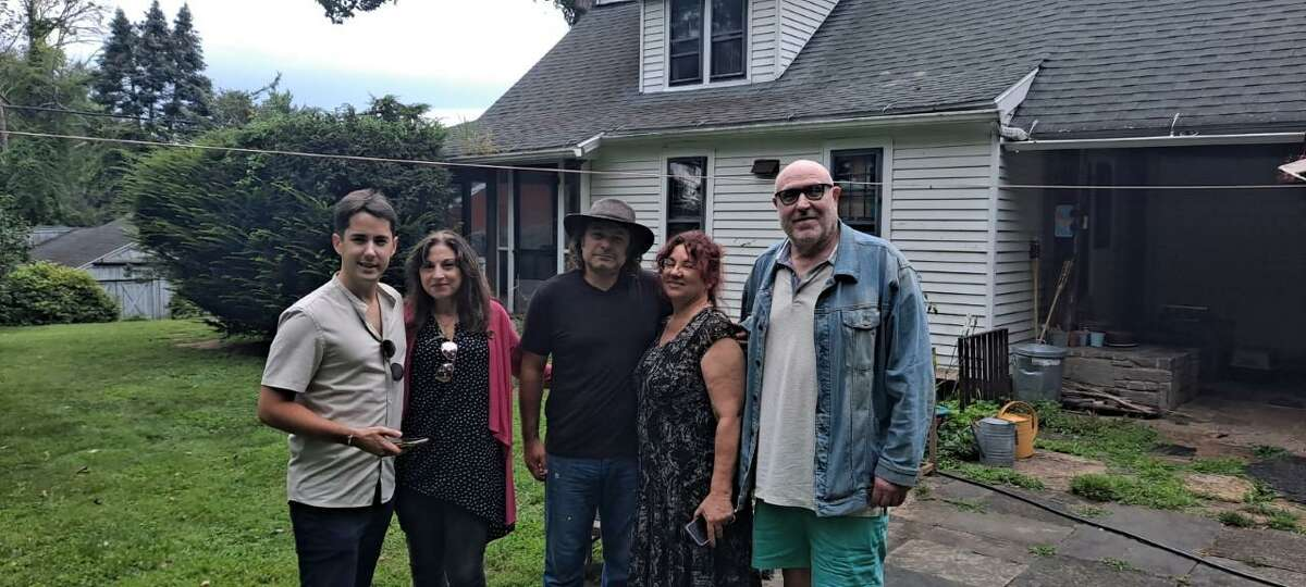 From left, Line Producer Matthieu Chazareix, Producer Valerie Smaldone, CEO of Hunt Hill Farm, Inc Alessandro Piovezahn, Chairperson at the New Milford Film Commission Valerie Lorimer, Director and Broadway veteran Mitchell Maxwell