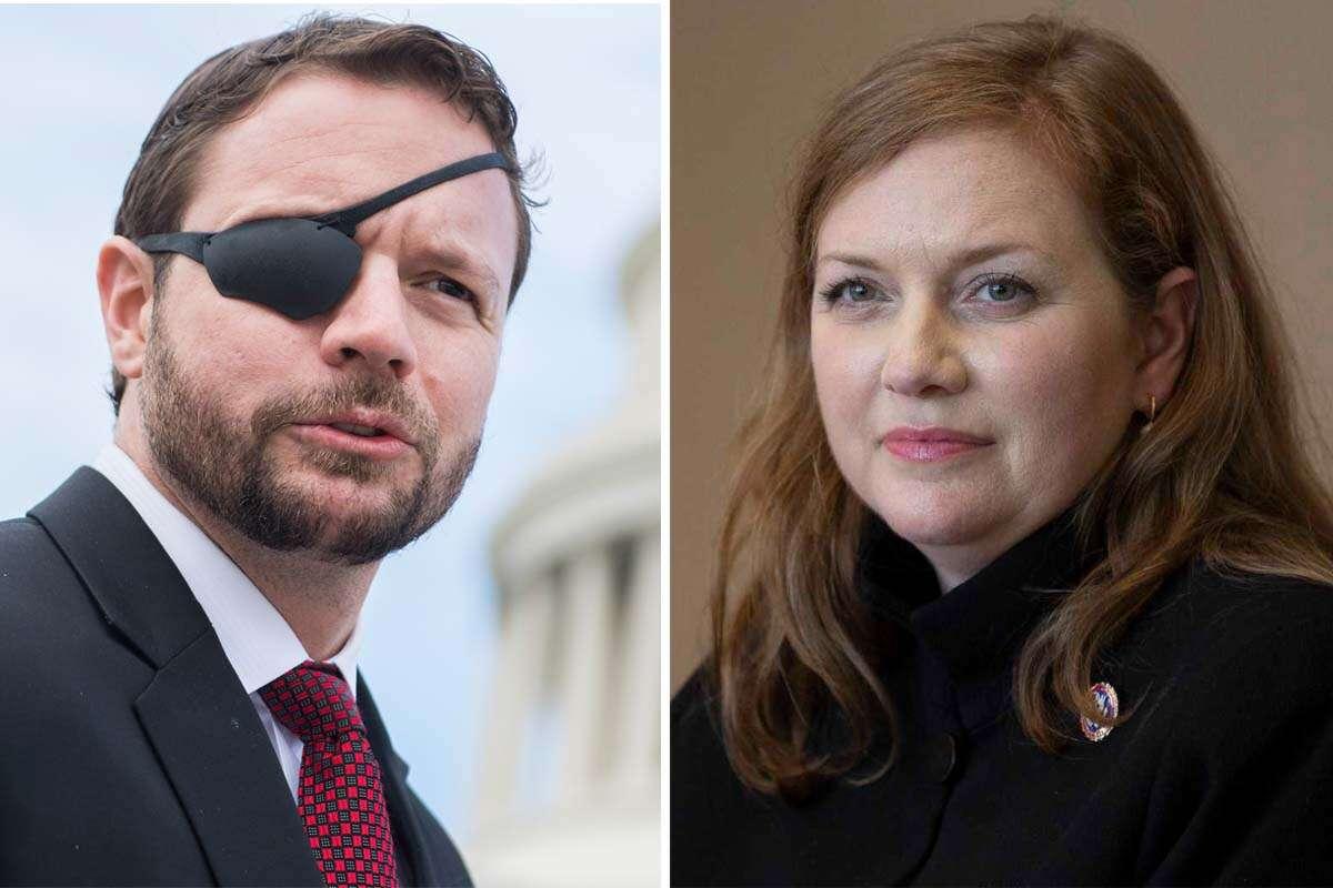 U.S. Reps. Dan Crenshaw, left, and Lizzie Fletcher, right.