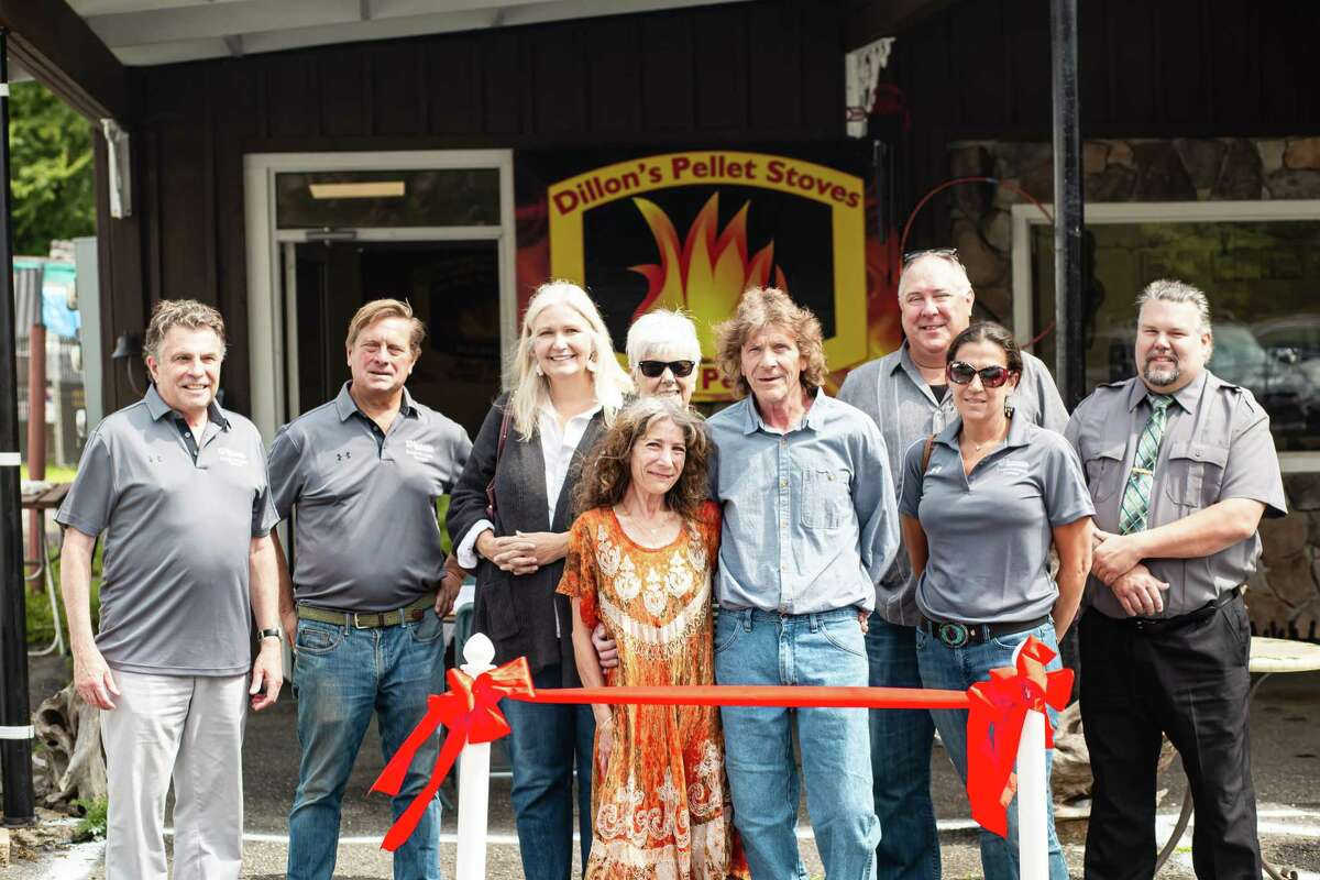 The Winchester Economic Development Commission recently held a ribbon-cutting ceremony for Dillon's Pellet Stoves and Pellets, which opened Aug. 28 on Main Street.