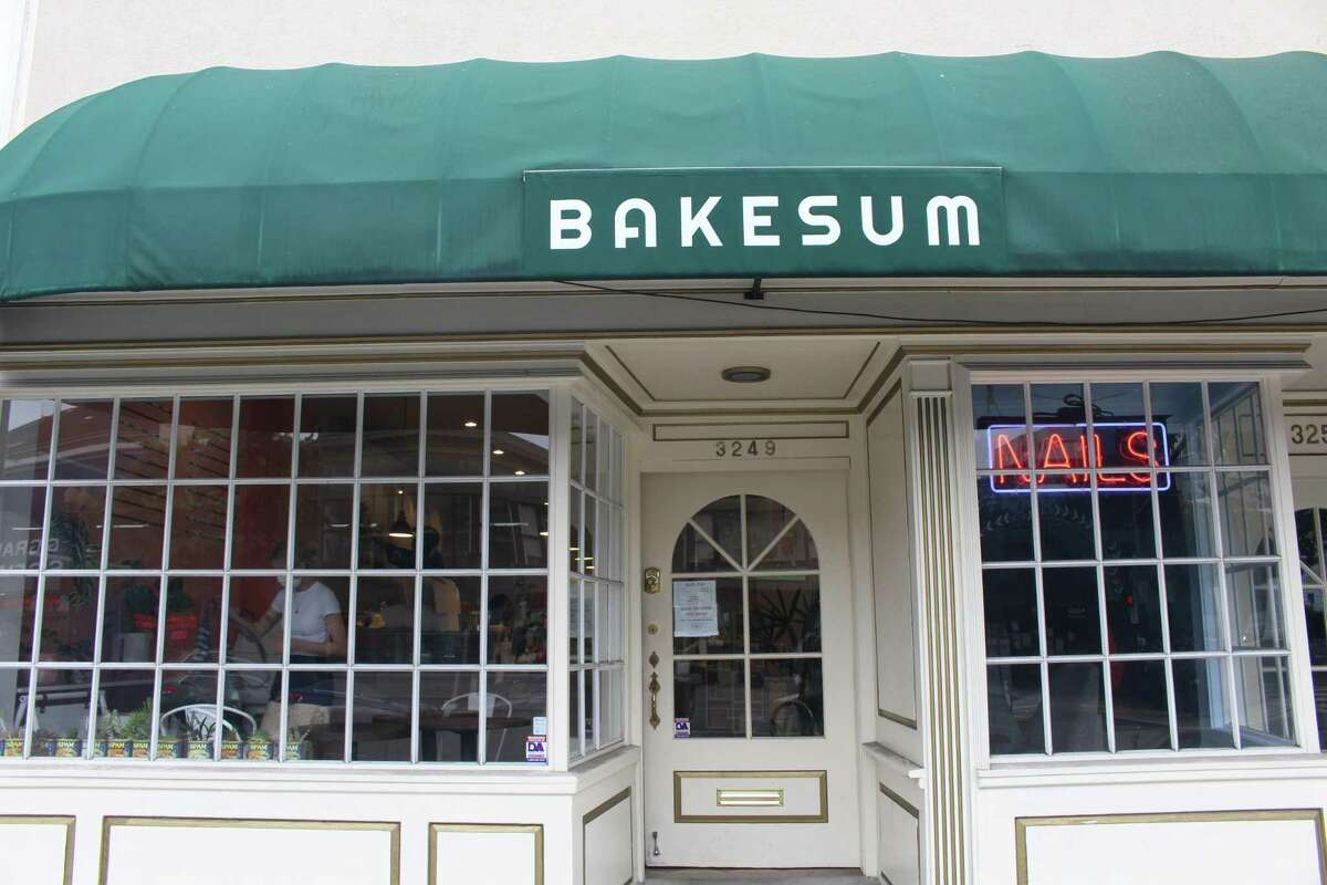 The exterior of Bake Sum, a new Asian American bakery, at 3249 Grand Ave., Oakland.