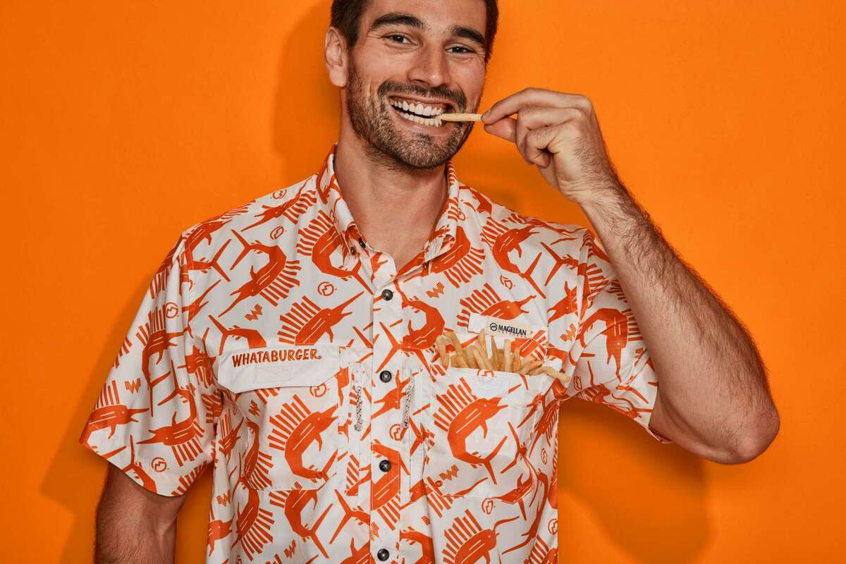 Whataburger and Academy Sports + Outdoors recently launched a line of fishing shirts, boat shorts and more.