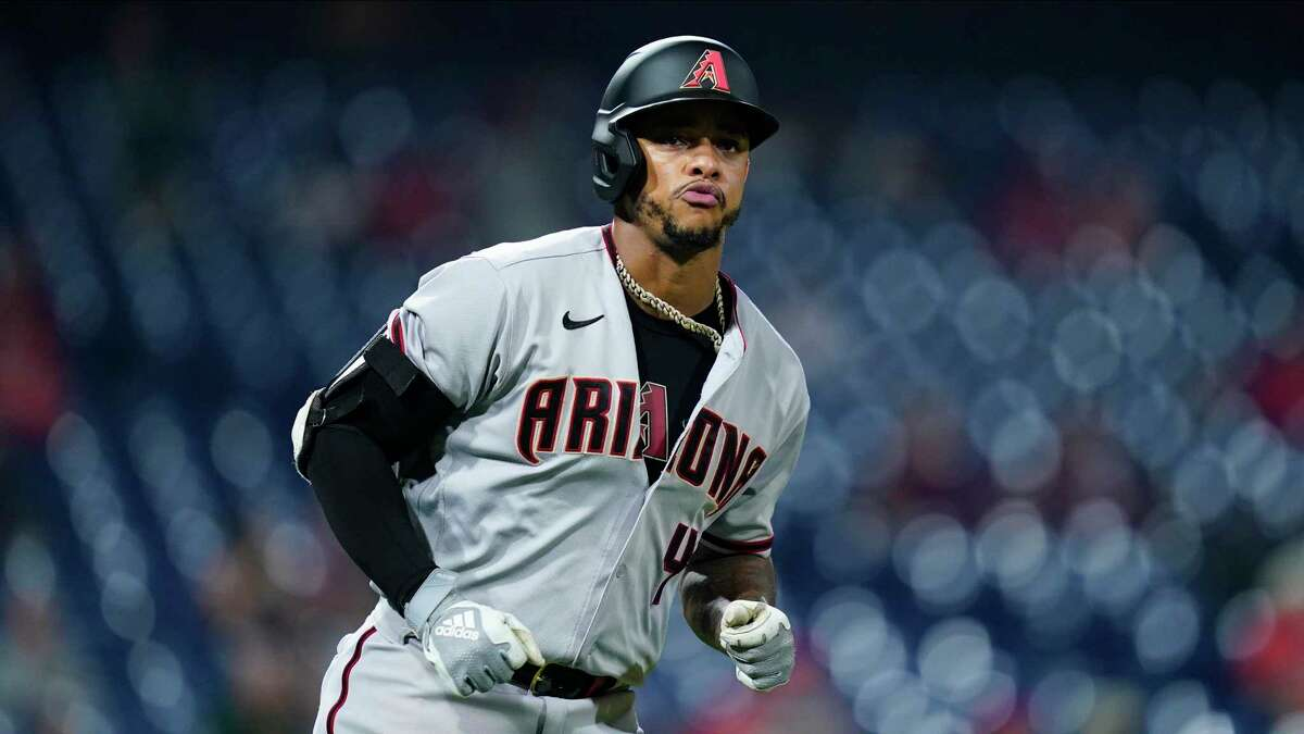 Limited to 76 games this year because of injuries to both hamstrings, Arizona's Ketel Marte is slashing .323/.384/.533.