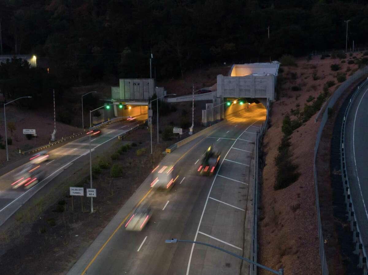 The Caldecott Tunnel is open for morning commute on Thursday, Oct. 10, 2019 in Oakland, Calif.