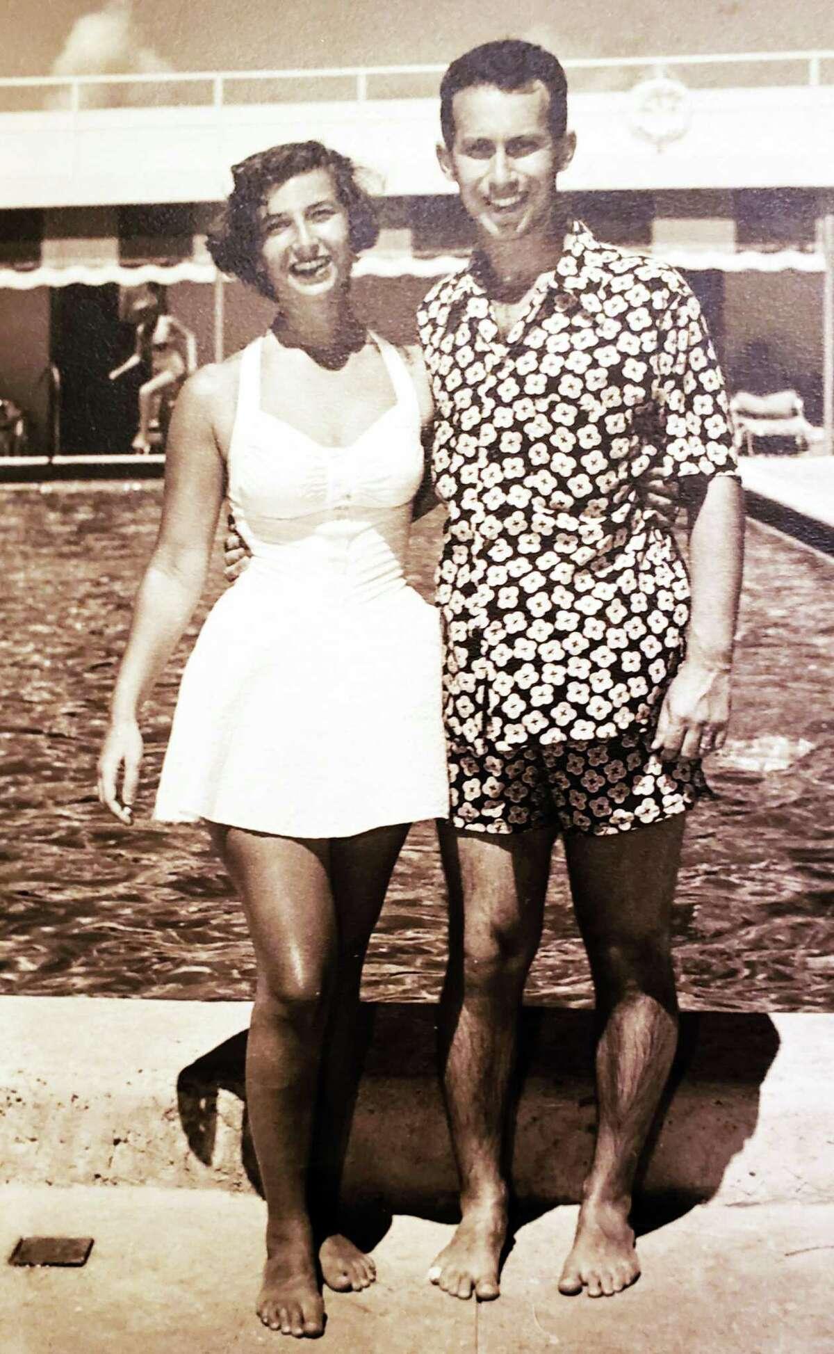 Philip and Jane Ginsburg, of Danbury, pictured on their honeymoon around Sept. 21, 1951.