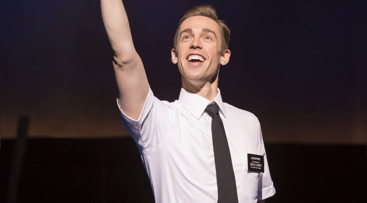 """Nic Rouleau in """"The Book of Mormon."""" He is one of the performers available through the Broadway Song Shoppe."""