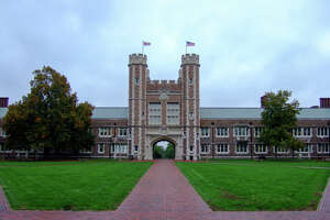 Brookings Hall, one of the symbols of Washington University in St. Louis.