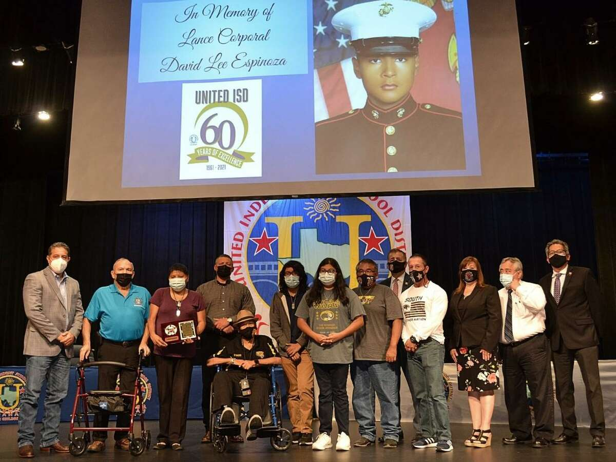 The Espinoza family was honored at UISD's board meeting on Wednesday.