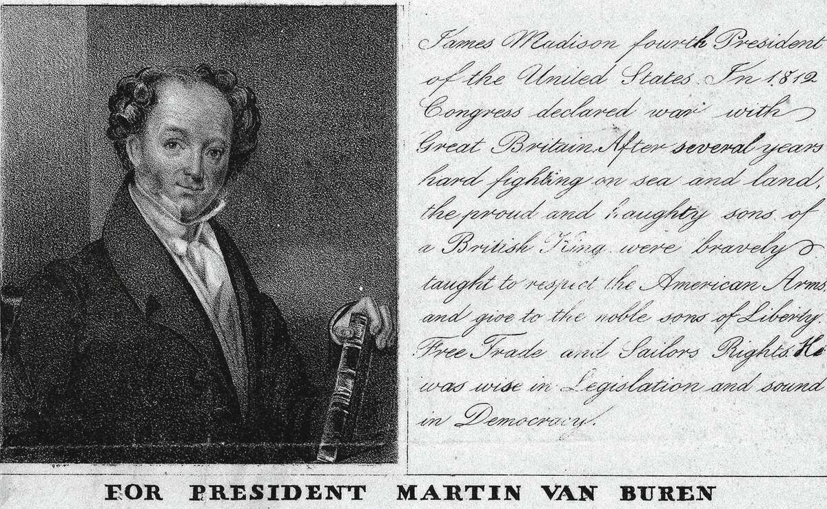 """Van Buren also had two nicknames. Because he was a shrewd, masterful politician his opponents derisively called him the """"Little Magician."""" But his admirers had a kinder, gentler name. They affectionately called him """"Old Kinderhook"""" after the Dutch community in upstate New York, where he was born and raised."""
