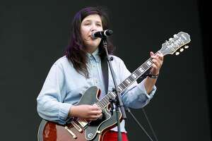 BOSTON, MA - MAY 26: Lucy Dacus performs during the 2017 Boston Calling Music Festival at Harvard Athletic Complex on May 26, 2017 in Boston, Massachusetts. (Photo by Taylor Hill/Getty Images for Boston Calling Music Festival)
