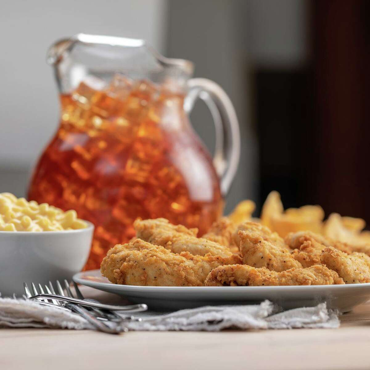Craft sandwiches, hand-breaded tenders and chicken waffles are on the menu at the new Slim Chickens restaurant in La Porte.