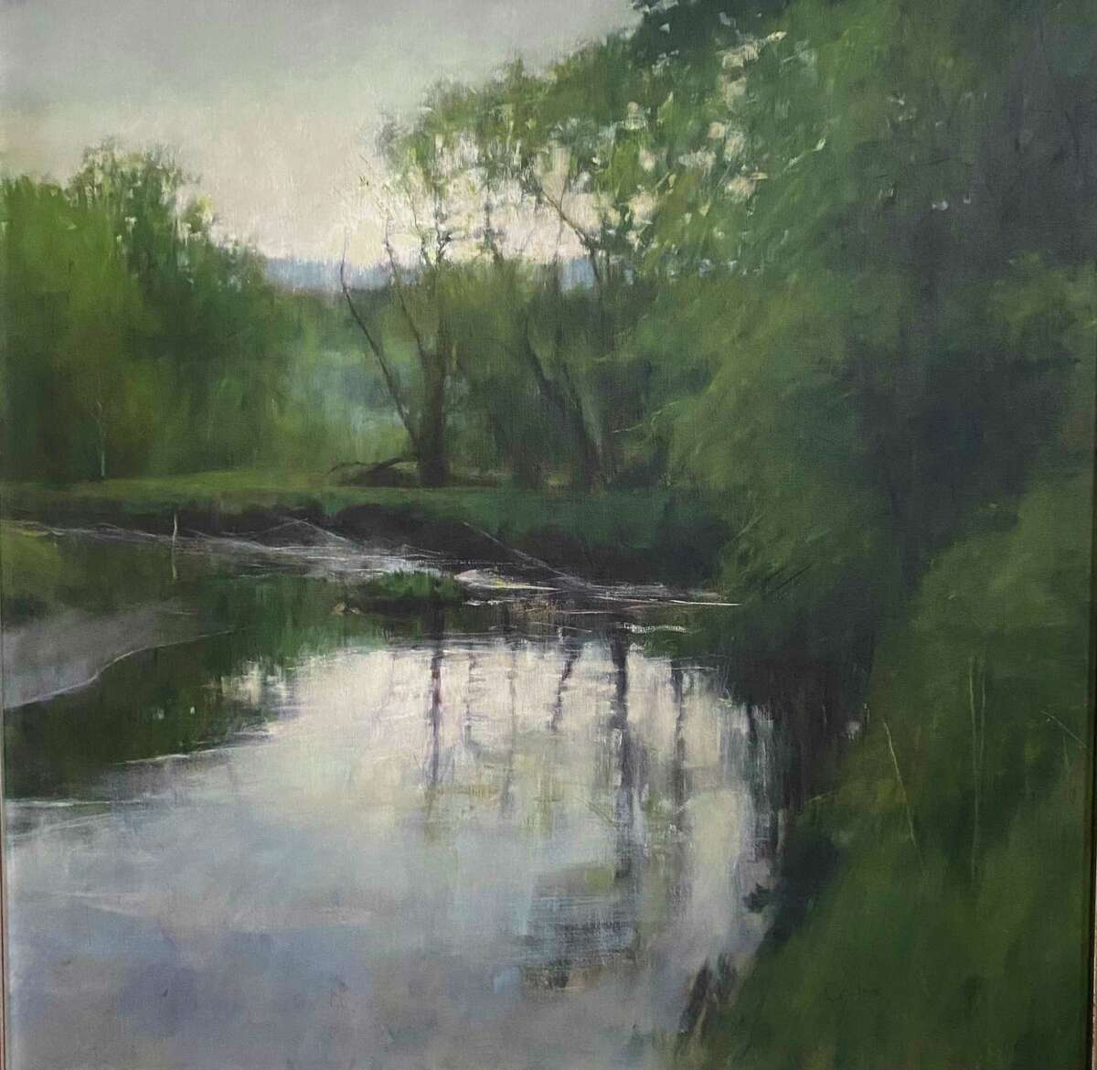 The Cornwall Library is showing an exhibit of paintings by Cornwall artist Curt Hanson