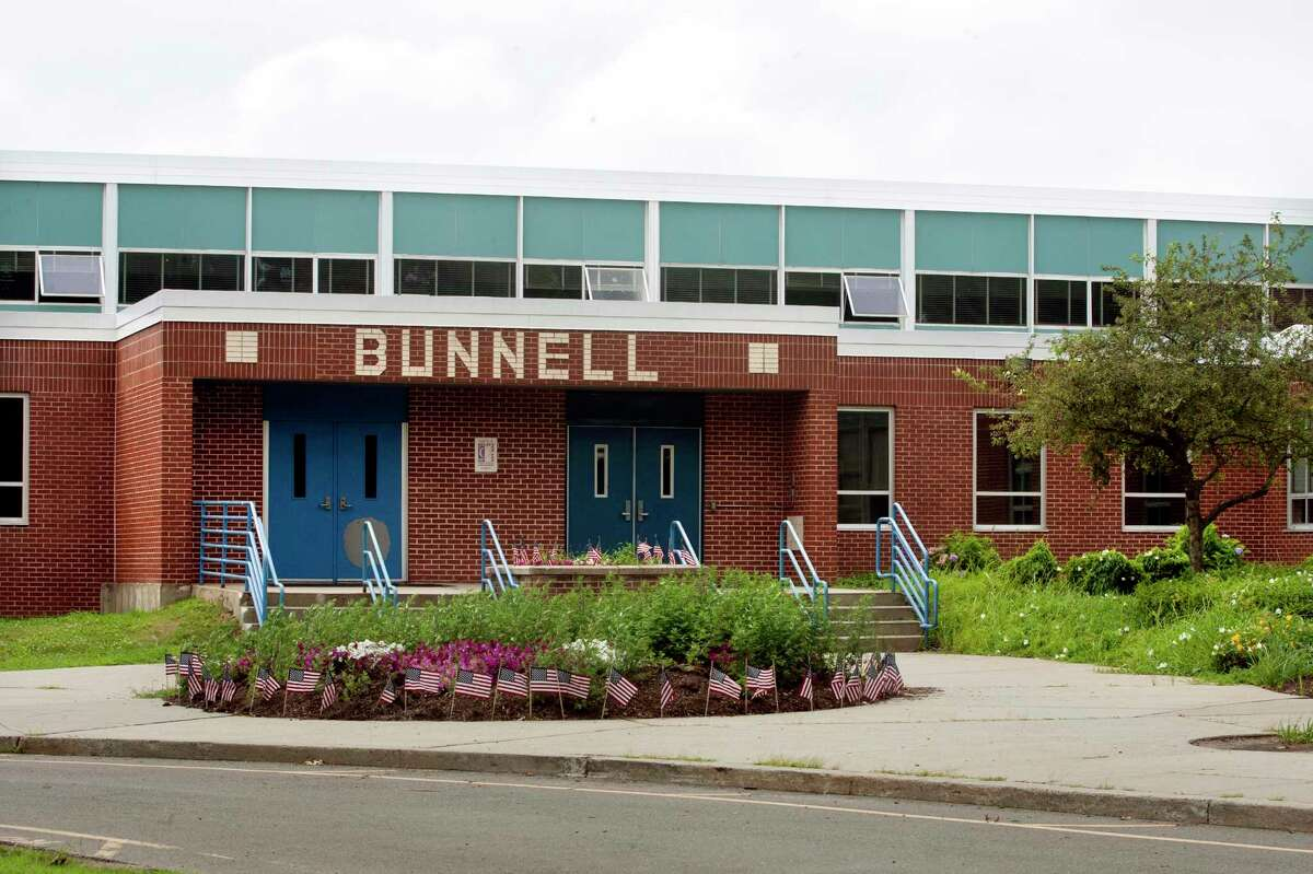 A view of Bunnell High School in Stratford, Conn., on Wednesday, July 25, 2018.