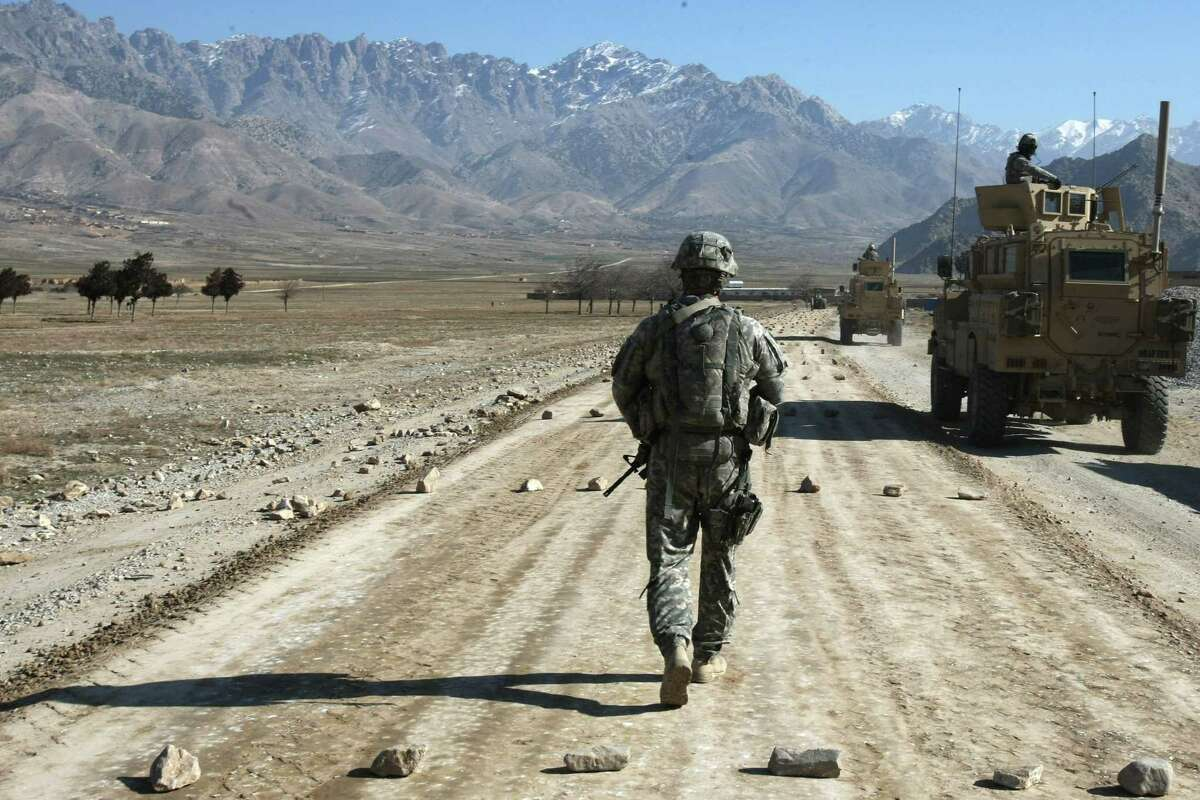 A U.S. soldier near Bagram in Afghanistan in 2010. The Department of Defense recently purged its extensive archive of news releases and stories about the war. Why?