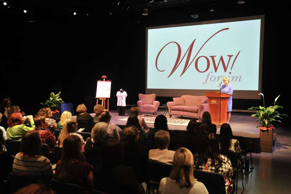 Pictured is the 2017 WOW! Forum at the Warner Theatre in Torrington. This year's forum is set for Oct. 1.