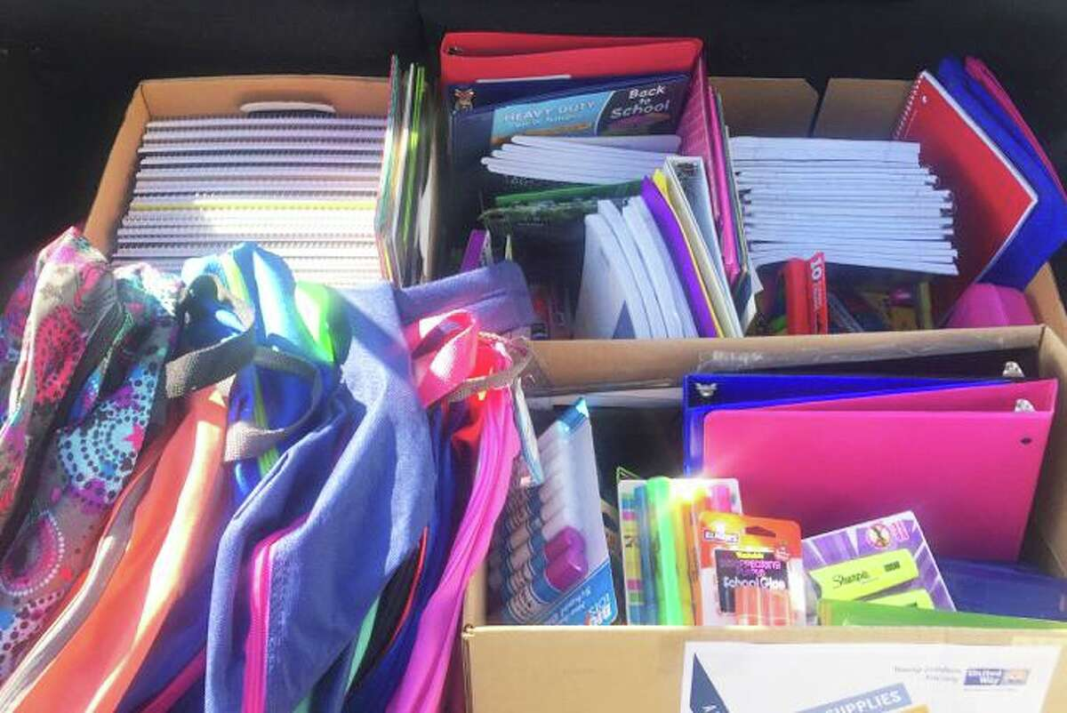 The Middlesex United Way Young Leaders Society hosts an annual school supply drive so the public schools' home visiting program can distribute them to families.