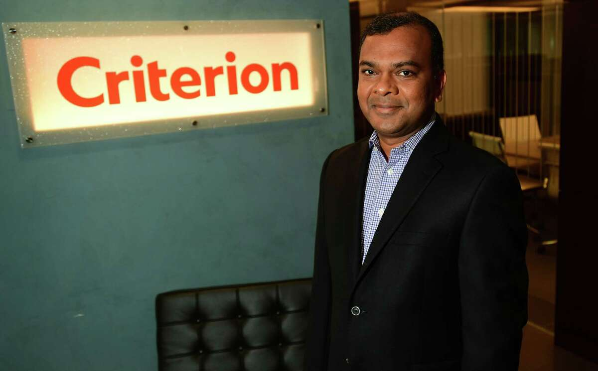 Criterion CEO Sunil Reddy at their offices at 301 Merritt 7 Friday, September 18, 2021, in NIrwalk, Conn. Criterion is the No. 1-ranked small company in this year's Top Workplaces.