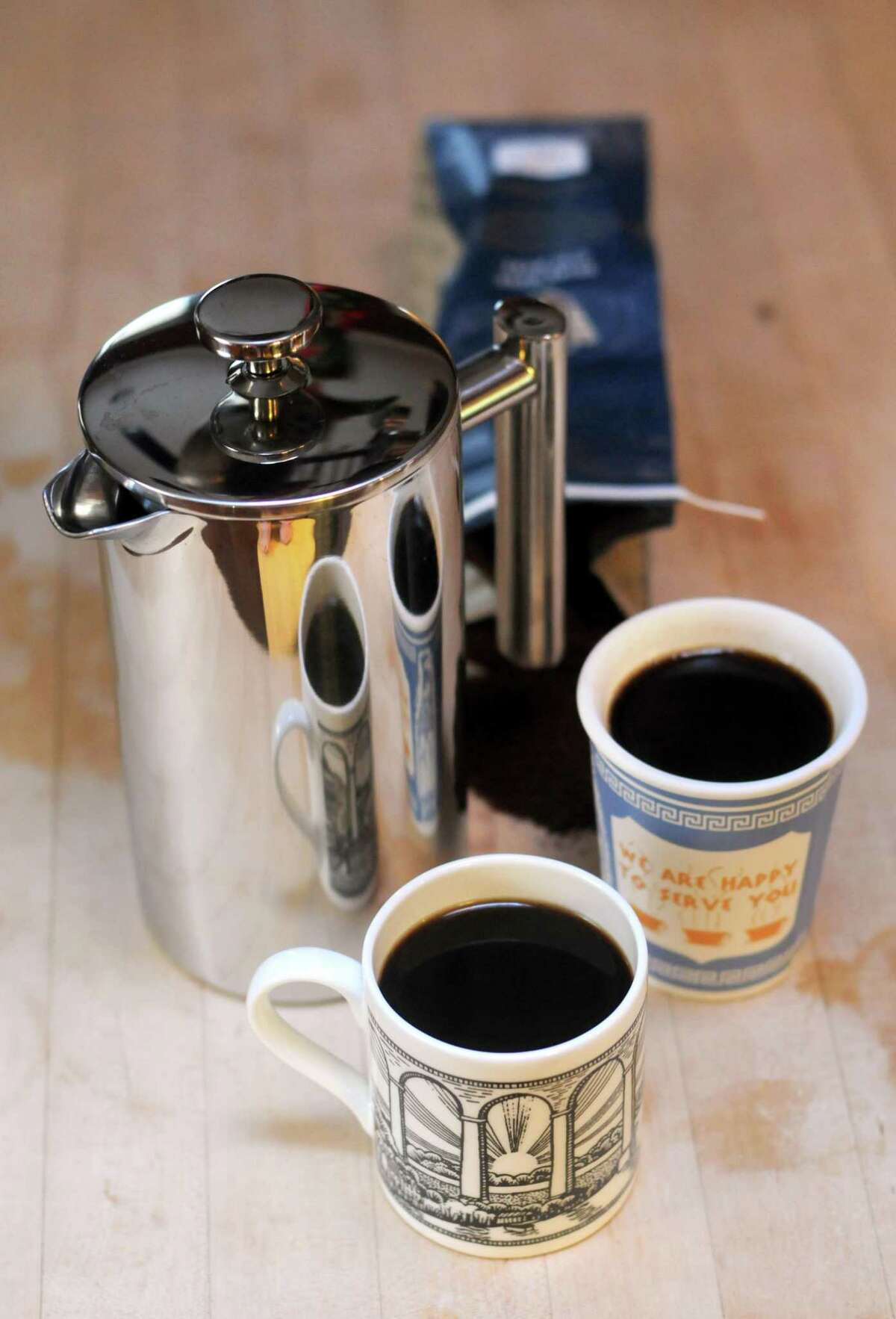 A double-walled, stainless-steel French press coffee maker is nearly indestructible and will keep your coffee hot much longer than glass models.
