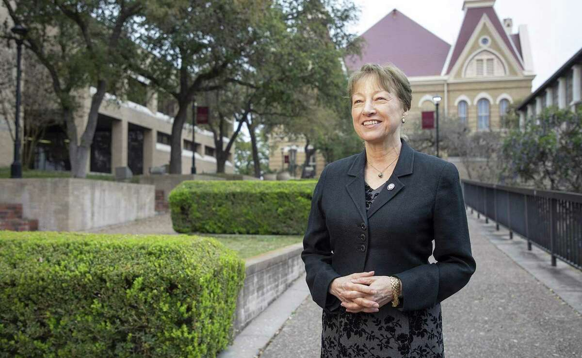 Denise Trauth became president of Texas State University in 2002.