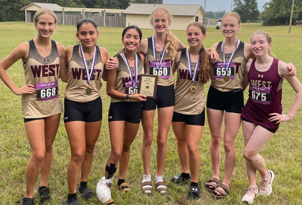 The Magnolia West girls cross country team won the Willis Wildkat Invitational, Thursday, Sept. 16, 2021, in Willis.