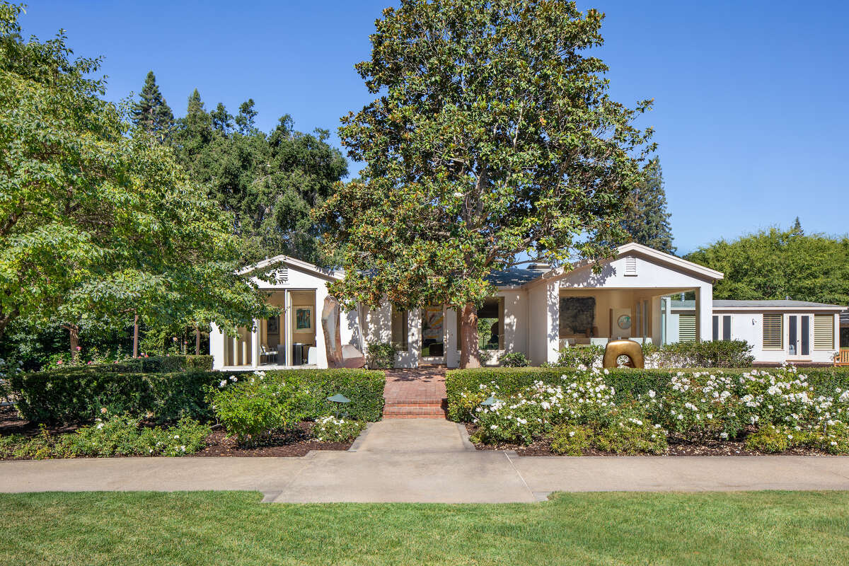 There are two homes on the property, one at 170 Atherton Ave. on a 4-acre parcel. The main house features five bedrooms and four bathrooms.