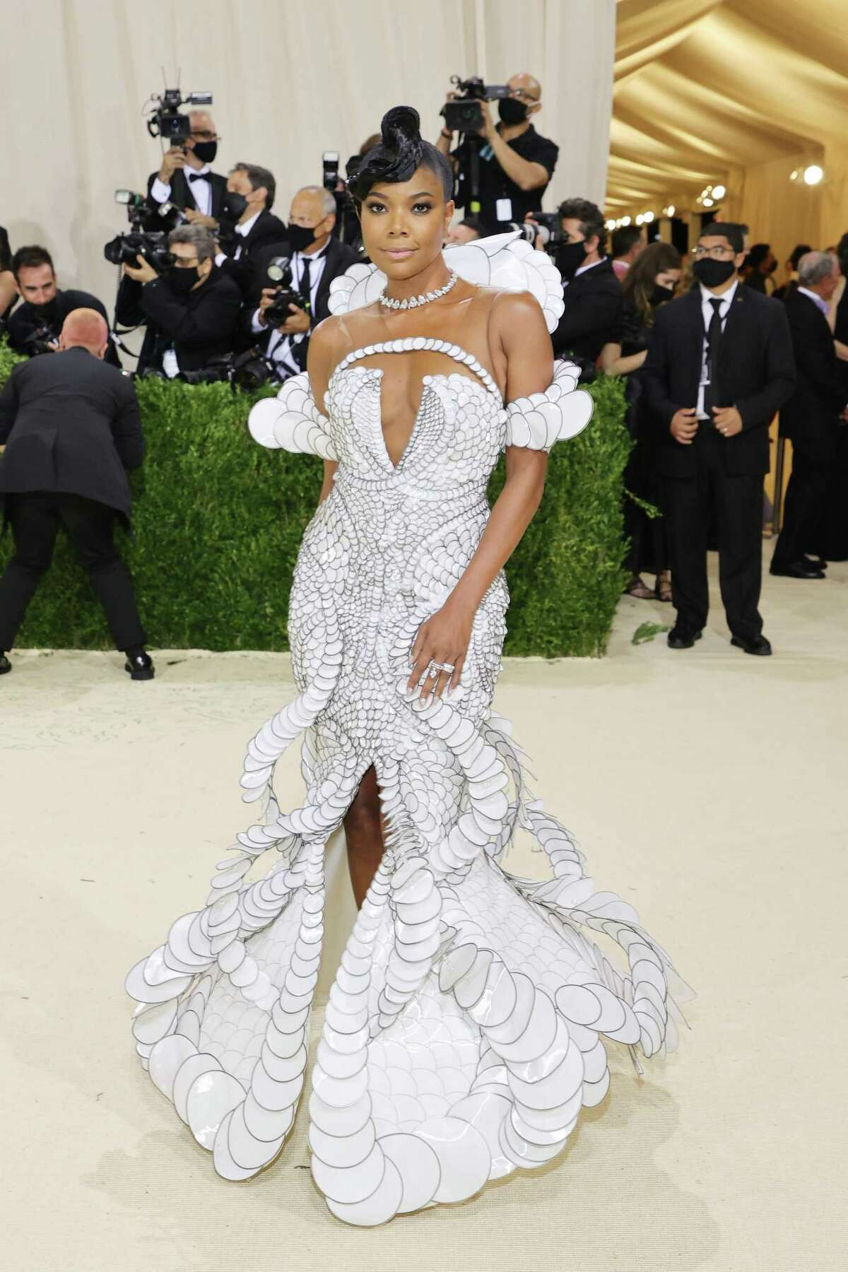 NEW YORK, NEW YORK - SEPTEMBER 13: Gabrielle Union attends The 2021 Met Gala Celebrating In America: A Lexicon Of Fashion at Metropolitan Museum of Art on September 13, 2021 in New York City. (Photo by Mike Coppola/Getty Images)