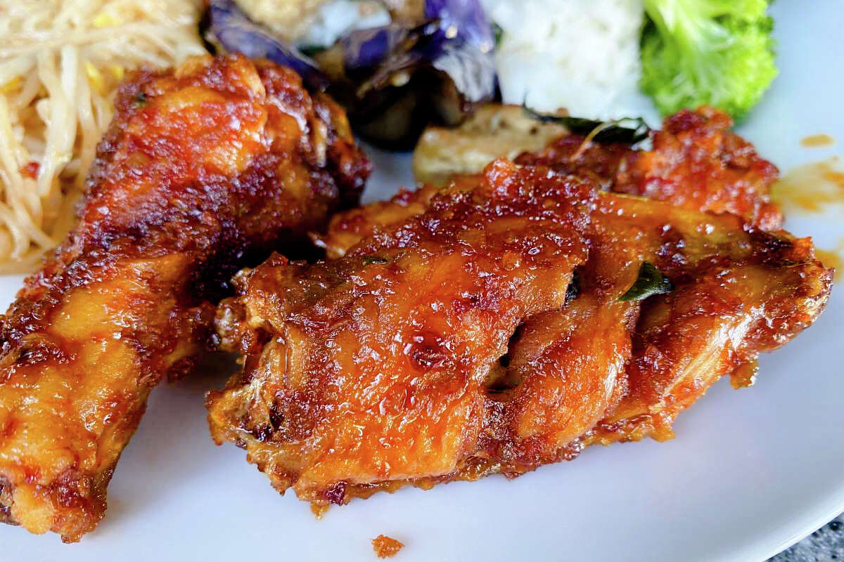The spicy chicken wings at Regent Thai in Noe Valley.