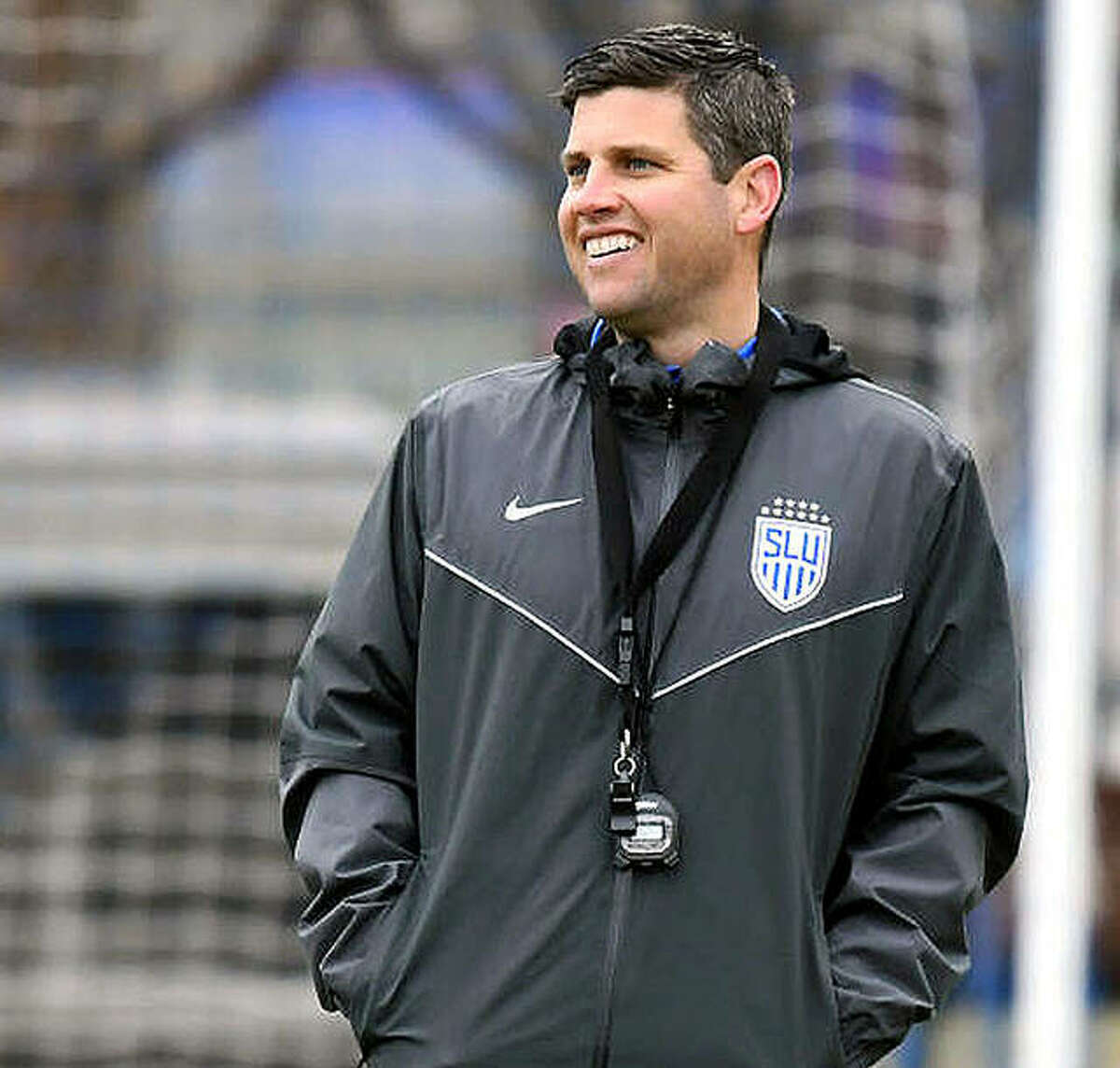 SLU soccer coach Kevin Kalish spent 15 years coaching at SIUE, six as head coach, before leaving to accept a position with Saint Louis Scott Gallagher Soccer club. he moved to SLU as head coach in 2018.